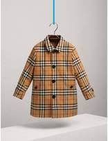 Burberry Vintage Check Cotton Car Coat