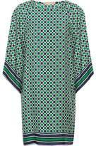 Michael Kors Printed Silk-Twill Mini Dress