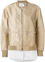 3.1 Phillip Lim zip-front bomber jacket - women - Silk/Polyester/Spandex/Elastane/Viscose - 8