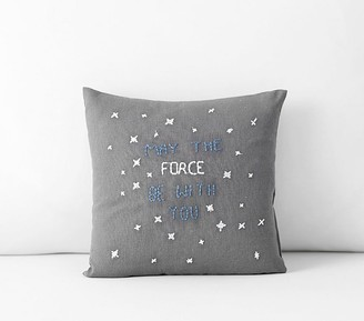 Pottery Barn Kids Star Wars May the Force be with You Decorative Pillow