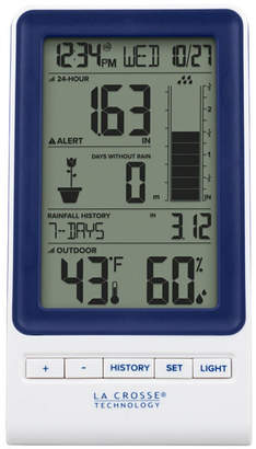 La Crosse Technology 724-1415BL Wireless Rain Station with Temperature and Humidity