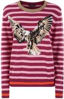 SET Striped Eagle Printed Sweater