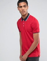 Celio Slim Fit Polo With Contrast Collar
