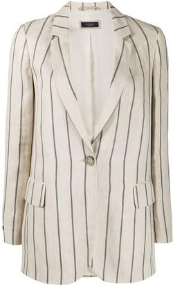 Peserico Striped Tailored Blazer