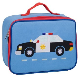 Olive Kids Police Car Embroidered Blue Lunch Box for Boys and Girls