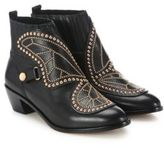 Sophia Webster Karina Butterfly Studded Leather Booties
