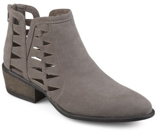 Brinley Co. Womens Side Slit Faux Suede Booties
