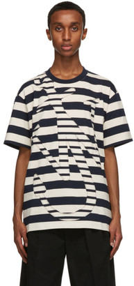 J.W.Anderson Navy and Off-White Oversize Anchor T-Shirt