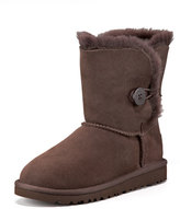 UGG Chocolate Short Bailey Button Boot, Youth