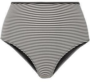 Marysia Swim Tarpum Bay Reversible Striped High-rise Bikini Briefs