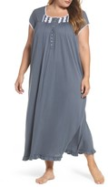 Eileen West Plus Size Women's Cotton & Modal Long Nightgown