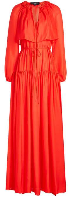 Paule Ka Silk Chiffon Dress
