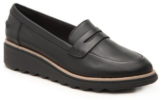 Clarks Sharon Ranch Wedge Penny Loafer
