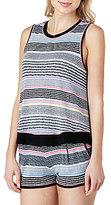 Kensie Jersey Striped Sleep Tank