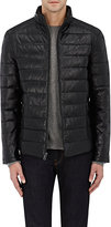 Barneys New York MEN'S QUILTED LEATHER JACKET