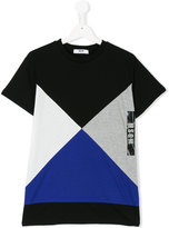 MSGM geometric print logo T-shirt
