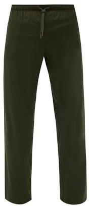 Derek Rose Basel Straight-leg Jersey Pyjama Trousers - Khaki