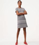 LOFT Tiled Stripe Shift Dress