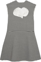 Awake Jellychess Fluted Gingham Woven Top - Black