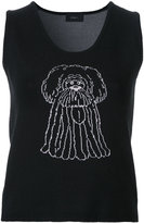 G.V.G.V. cartoon knit tank top - women - Cotton/Polyester/Rayon - XS