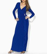 Lauren Ralph Lauren Jersey Surplice V-Neck Gown