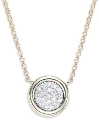 Effy 14K Yellow Gold & Diamond Pendant Necklace