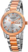 Akribos XXIV Women's Stainless Steel Diamond Dial Watch