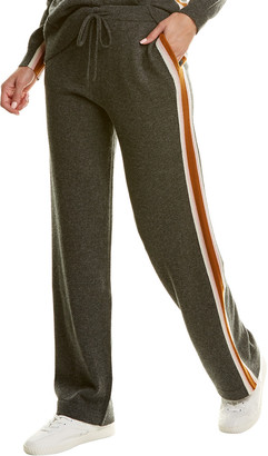 Chinti and Parker Heritage Stripe Cashmere & Wool-Blend Track Pant