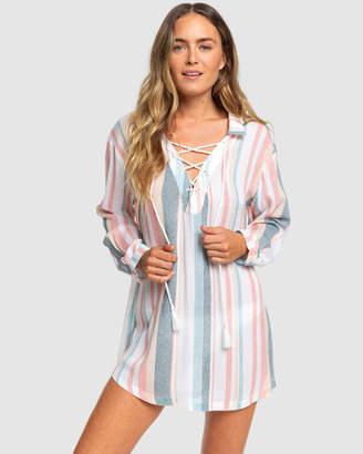 Roxy Womens Beach Classics Long Sleeved Shirt Dress