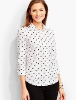 Talbots The Perfect Three-Quarter-Sleeve Shirt-Polka Dots