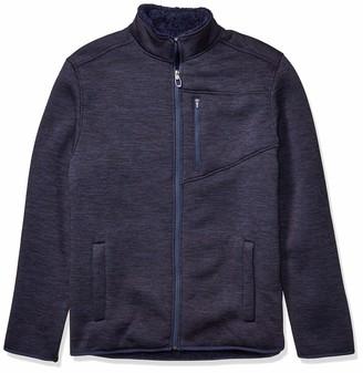 Izod Men's Tall Premium Essentials Sherpa Jersey Jacket