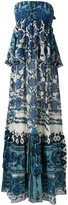 Roberto Cavalli floral print maxi dress - women - Silk - 42