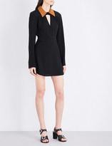 McQ by Alexander McQueen Contrast-collar crepe mini dress