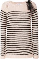 RED Valentino striped jumper - women - Viscose/Angora/Cashmere/Wool - XS