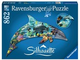 Ravensburger Dolphin Shaped Puzzle - 862 Pieces