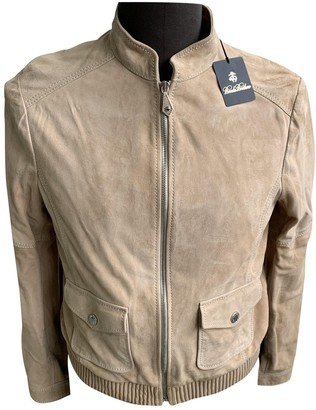 Brooks Brothers Beige Leather Leather Jacket for Women