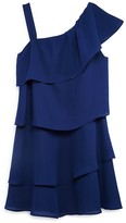Aqua Girls' Tiered One Shoulder Dress , Sizes S-XL - 100% Exclusive