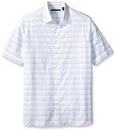 Perry Ellis Men's Big and Tall Horizontal Textured Stripe Shirt