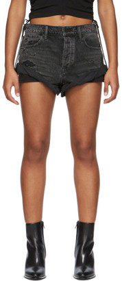 Alexander Wang Black Denim Hike Shorts