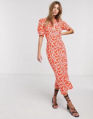 Asos Design DESIGN midi tea dress in floral print