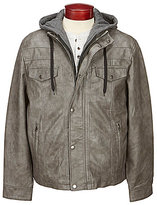 Roundtree & Yorke Faux-Leather Jacket with Hood