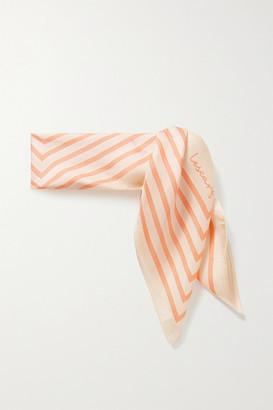 LESCARF No. 19 Striped Silk-twill Scarf - Cream