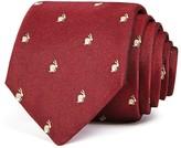 Paul Smith Bunny Print Skinny Tie