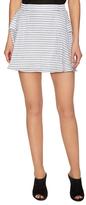 BCBGeneration Cotton Stripe Plank Front Skirt