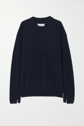 Maison Margiela Wool And Cashmere-blend Sweater - Navy