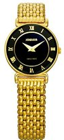 Jowissa Women's J2.040.S Roma 24 mm Gold PVD Black Dial Roman Numeral Steel Watch