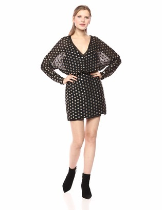 Finders Keepers findersKEEPERS Women's Moonlight Sequin DOT Longsleeve Mini Dress
