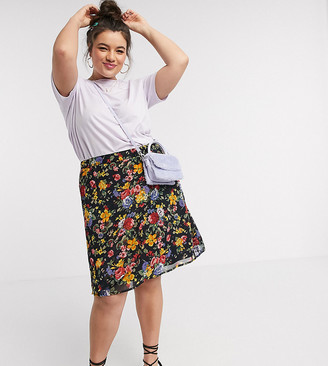 Wednesday's Girl Curve mini skirt in vintage floral