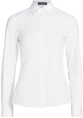 Dolce & Gabbana Point Collar Poplin Shirt