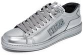 Kenzo Tennix Metallic Lace Up Sneakers